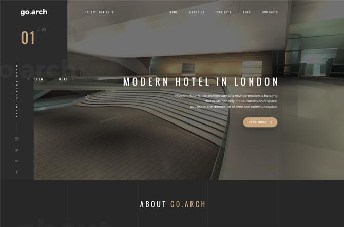 go arch architecture html template
