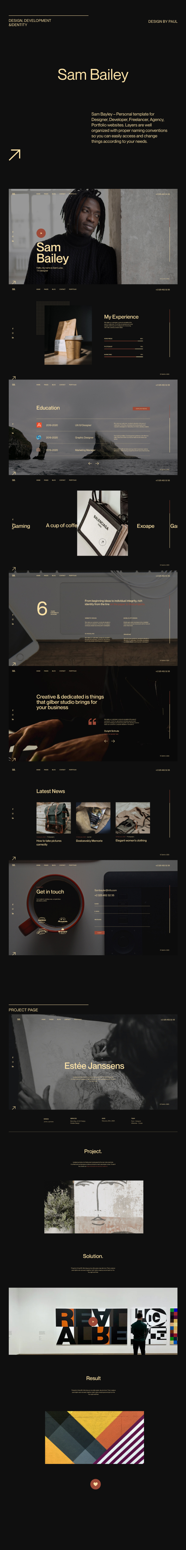 Sam Bailey - Personal CV/Resume WordPress Theme - 4