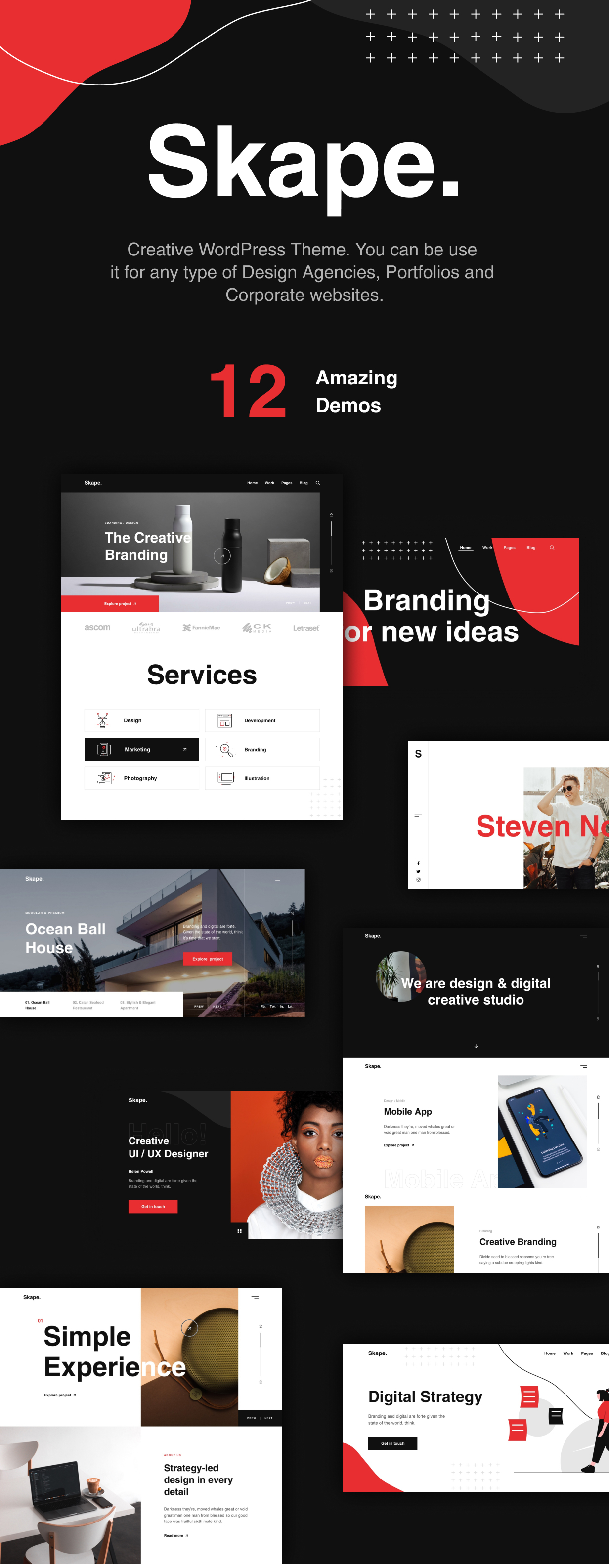 Skape - Creative & Modern Agency WordPress Theme - 5