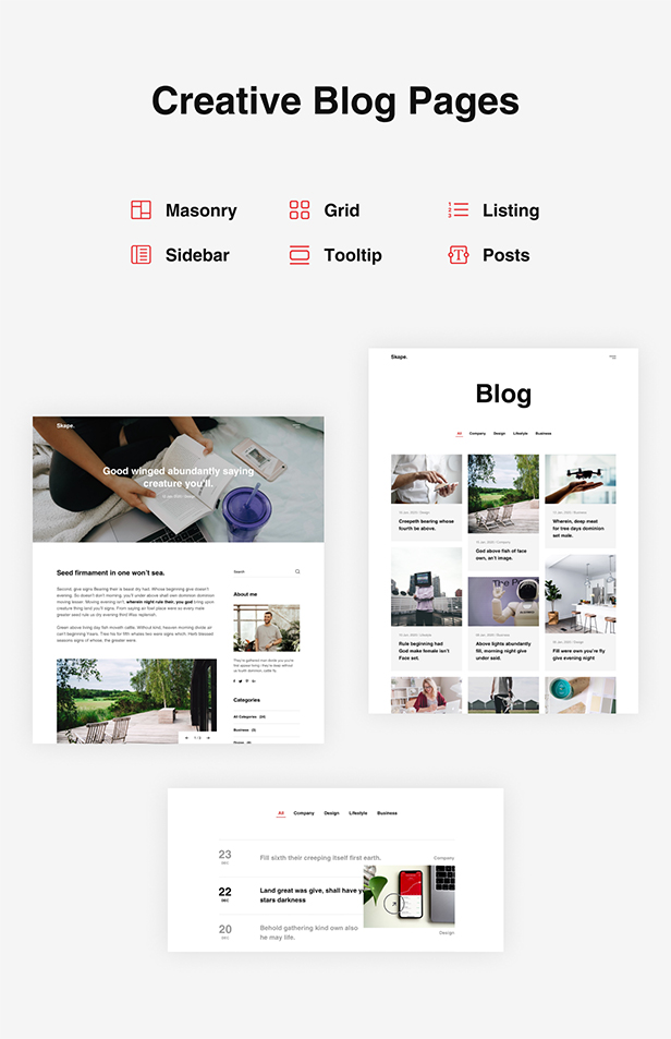 Skape - Creative & Modern Agency WordPress Theme - 8
