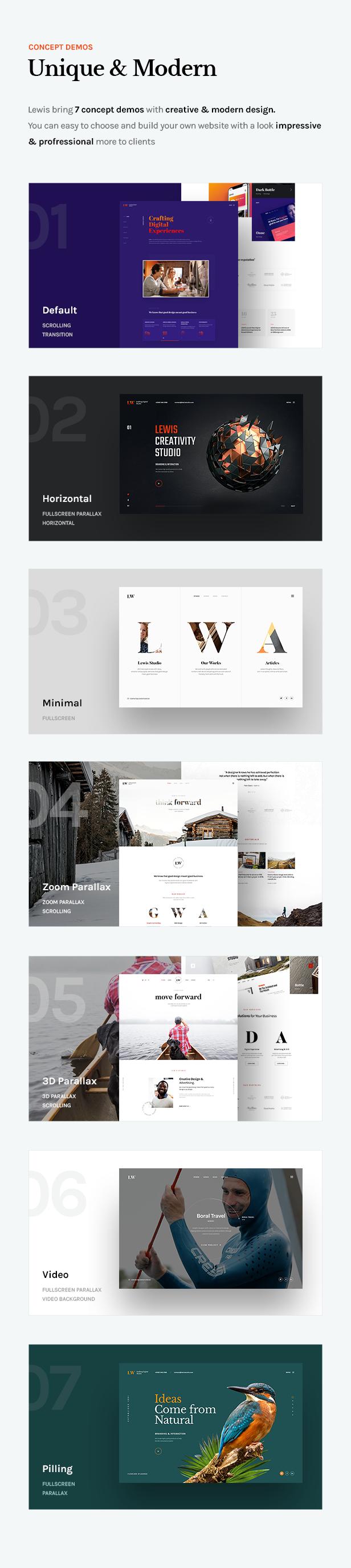 Lewis - Creative Portfolio & Agency WordPress Theme - 5