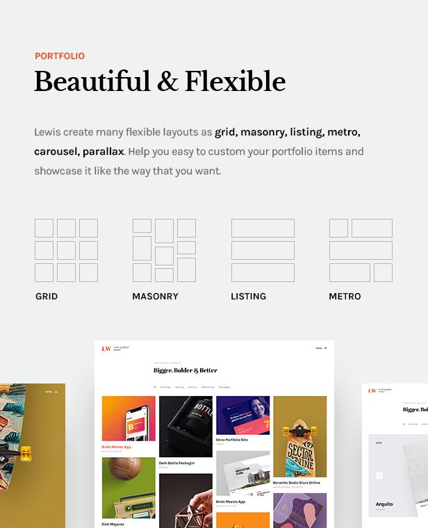 Lewis - Creative Portfolio & Agency WordPress Theme - 8