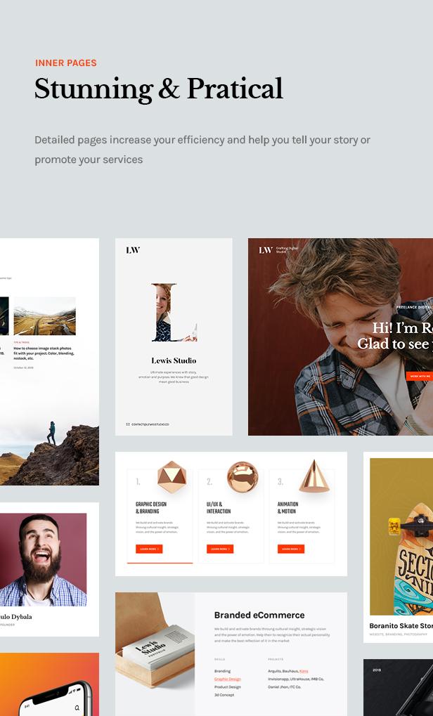 Lewis - Creative Portfolio & Agency WordPress Theme - 11