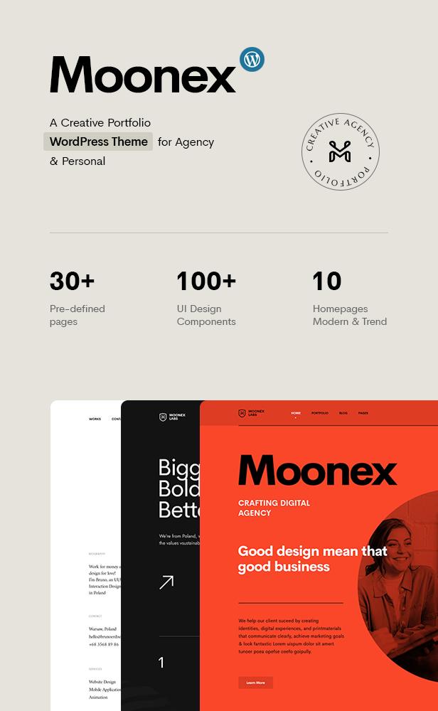 Moonex - Agency & Portfolio WordPress Theme - 4