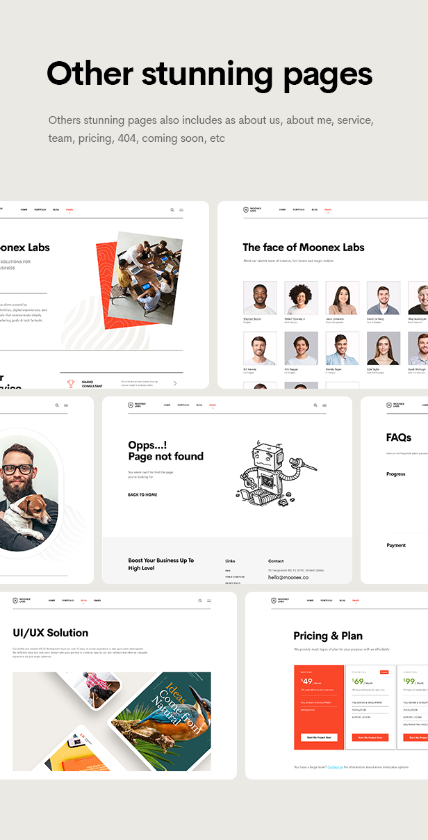 Moonex - Agency & Portfolio WordPress Theme - 13