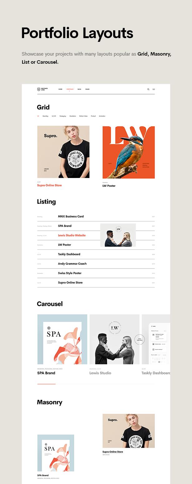 Moonex - Agency & Portfolio WordPress Theme - 9