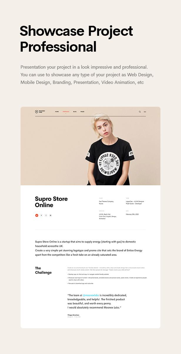 Moonex - Agency & Portfolio WordPress Theme - 10