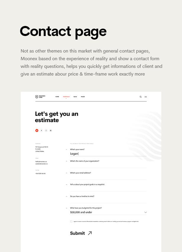 Moonex - Agency & Portfolio WordPress Theme - 12