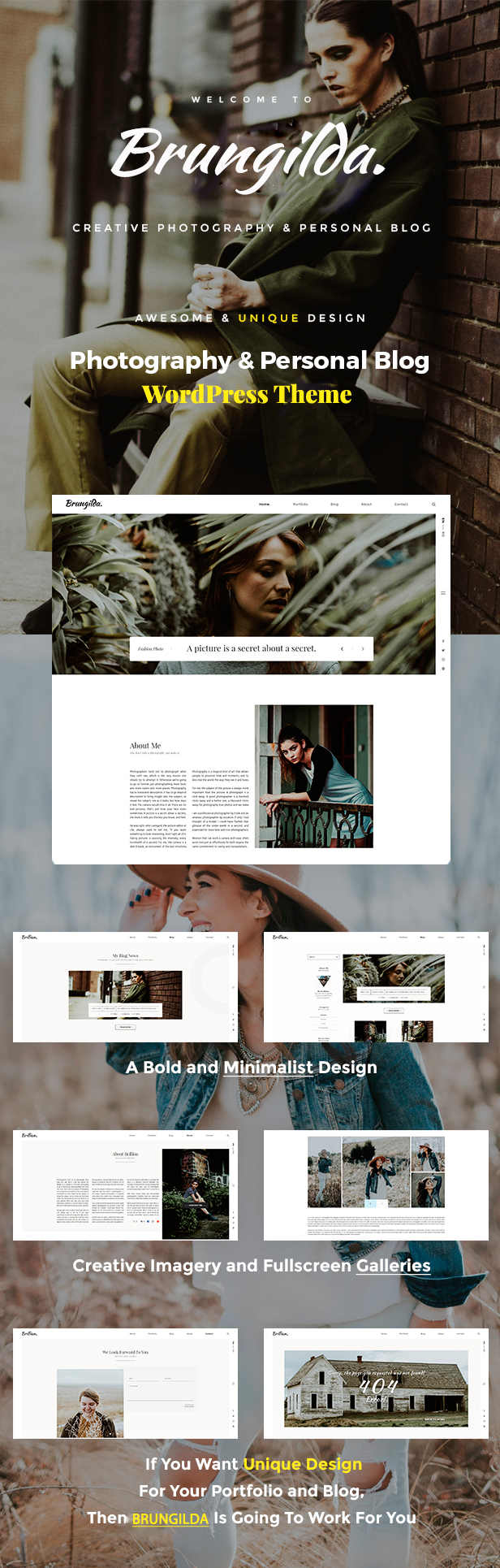 Brungilda - Photography WordPress theme - 1