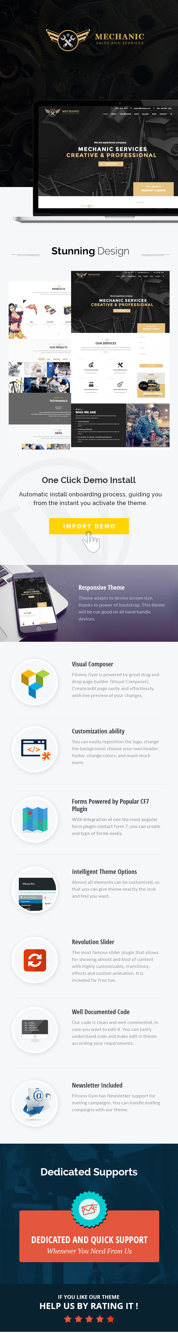 Фото Премиум шаблон Wordpress  Mechanic - Car Service & Workshop WordPress Theme — flyer2